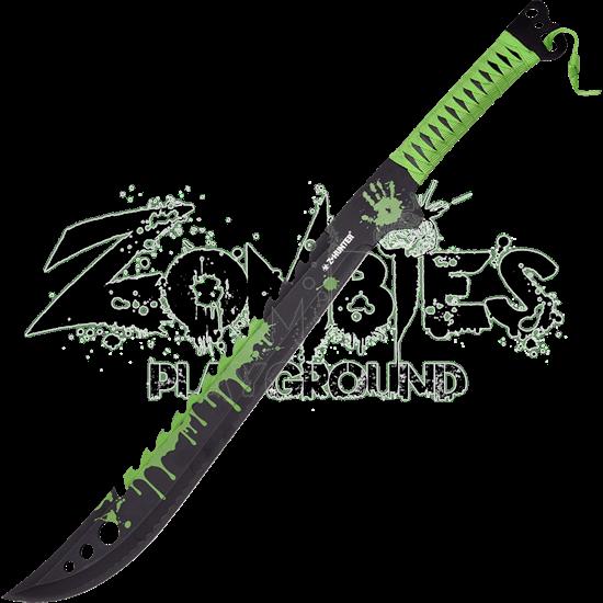Green Spattered Zombie Hunter Machete