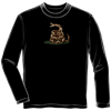 Dont Tread On Me Black Long Sleeve Shirt