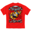 Red USMC Semper Fidelis Sword T-Shirt