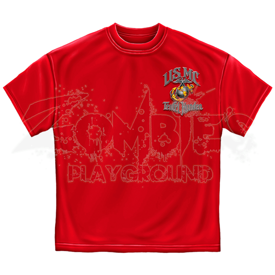 Red USMC Teufel Hunden T-Shirt