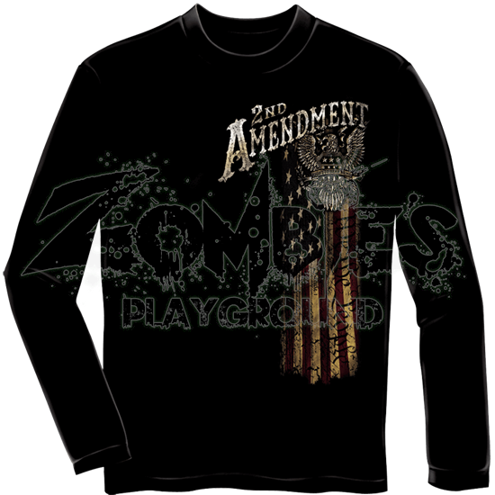 Second Amendment Eagle Silver Foil Long Sleeve Shirt