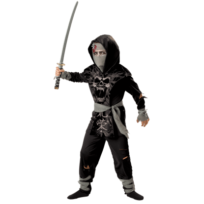 Dark Zombie Ninja Boy's Costume