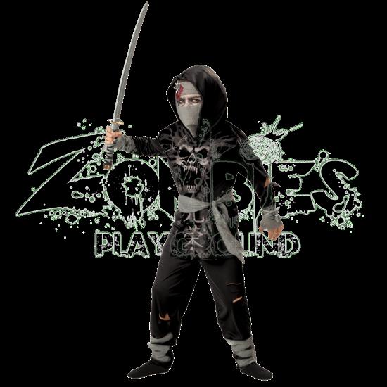 Dark Zombie Ninja Boy's Costume