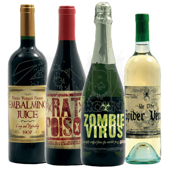Halloween Slapsticker Bottle Labels