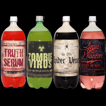 Halloween Slapsticker Soda Bottle Labels