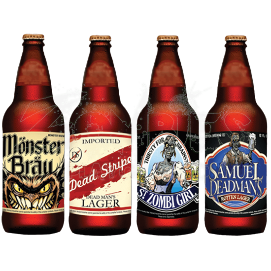 Halloween Slapsticker Beer Bottle Labels