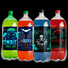 Glowing Halloween Slapsticker Soda Bottle Labels