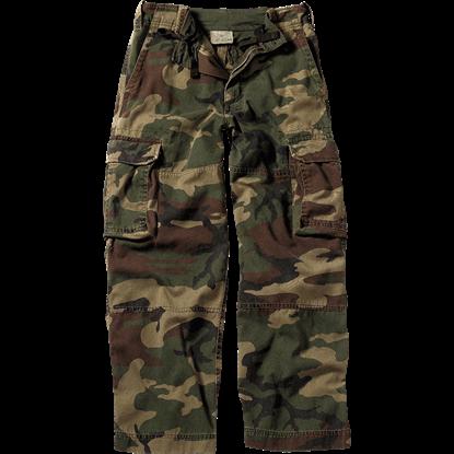 Kids Vintage Woodland Camo Fatigue Pants