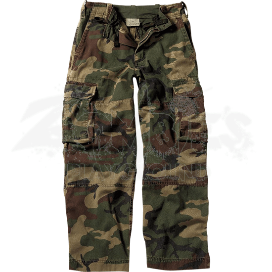 Kids Vintage Woodland Camo Fatigue Pants