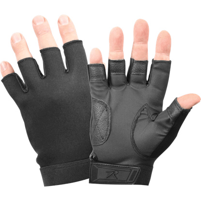 Black Fingerless Neoprene Combat Gloves