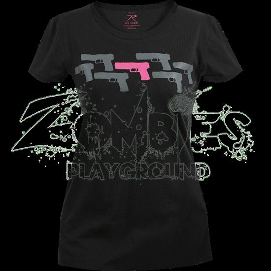 Womens Pink Pistol T-Shirt