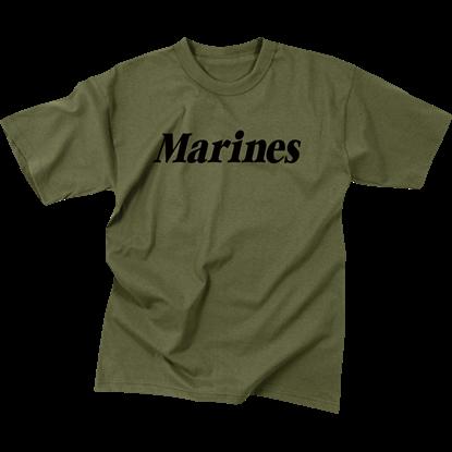 Kids Olive Drab Marines T-Shirt
