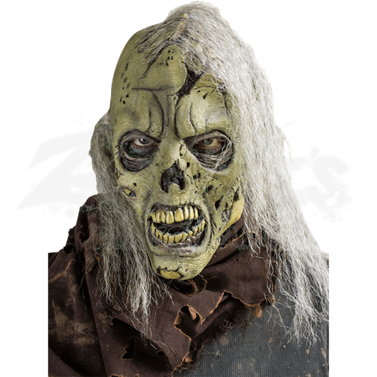 Open Brain Zombie with Hair Mask