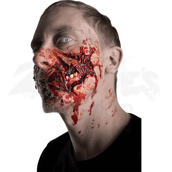 Torn Zombie Cheek Prosthetic