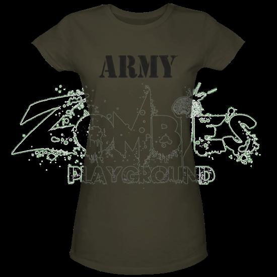 Green Army Womens T-Shirt