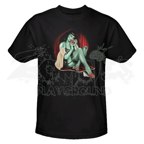 Zombie Pin Up All A Girl Wants T-Shirt