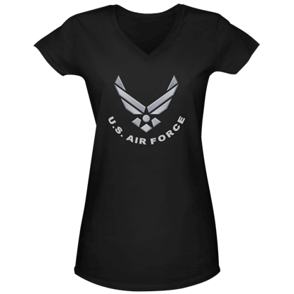 Air Force Silver Logo Womens V-Neck