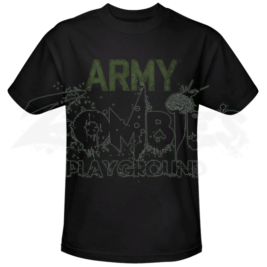 Green and Black Army T-Shirt