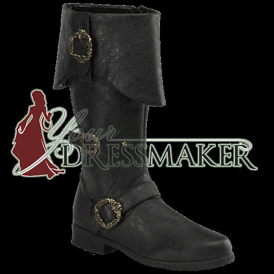 Men's Ornate Captain Boots