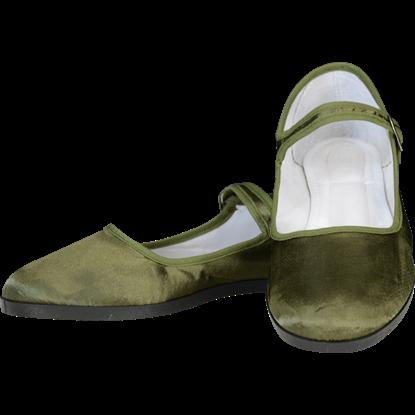 Olive Lady Jane Shoes