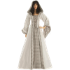 White Medieval Maiden Hooded Dress