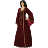 Ladies Medieval Dress with Shoulder Cape