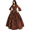 Brown Baroque Renaissance Gown
