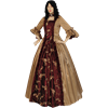 Gold and Burgundy Baroque Renaissance Gown