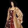 Gold and Burgundy Renaissance Dress