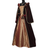 Courtly Renaissance Dress - Red and Gold