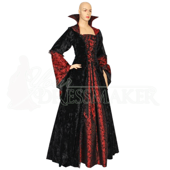 Countess Dracula Dress - Black and Red