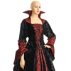 Countess Dracula Dress - Black and Red