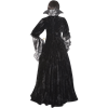Countess Dracula Dress - Black and Silver