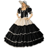 Black and Cream Civil War Dress