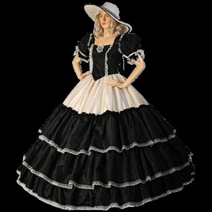 Black and Cream Civil War Dress