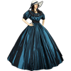 Blue-Green Civil War Dress