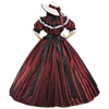 Dark Red Civil War Dress