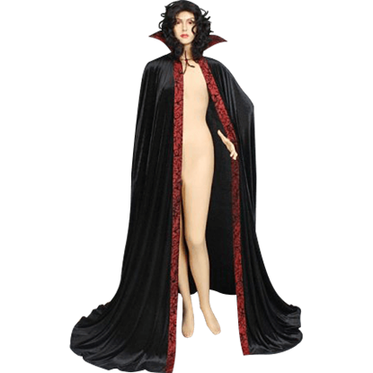 Black and Red Dracula Cape