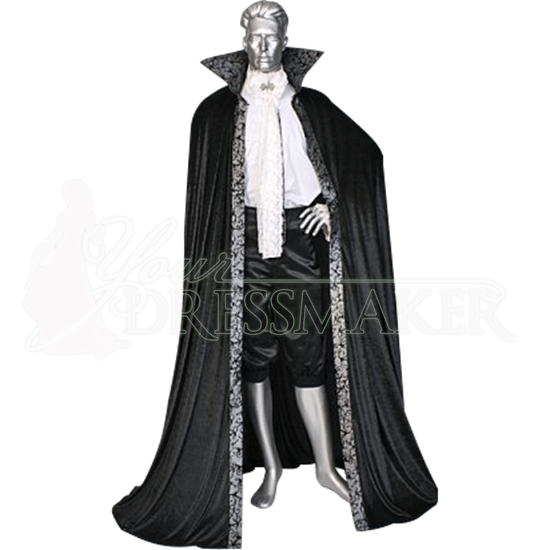 Black And Silver Dracula Cape