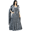 Crushed Velvet Renaissance Dress - Gray