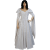 Crushed Velvet Renaissance Dress - White
