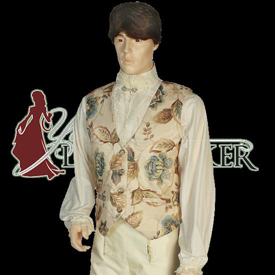 Mens Floral Renaissance Vest