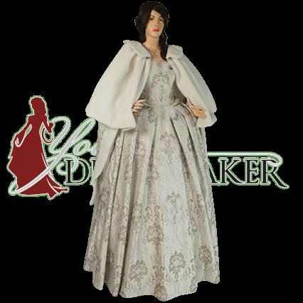 Womens Renaissance Fur Shoulder Cape Mci 418 By Medieval