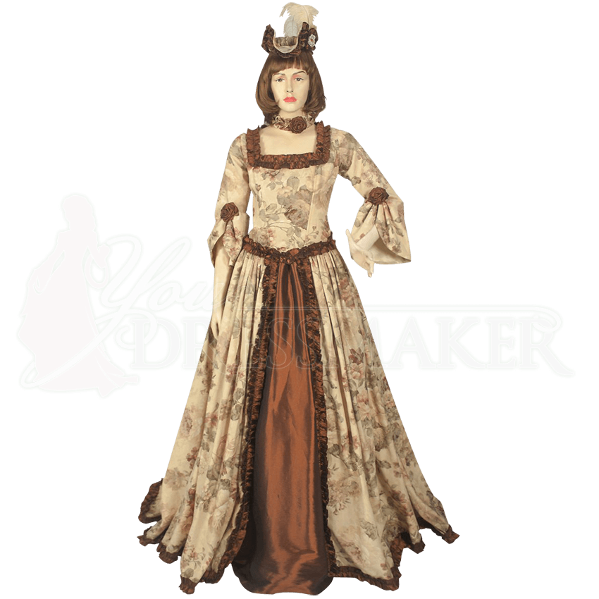 Floral Pattern Renaissance Dress Mci 432 By Medieval And