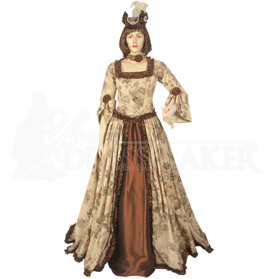 Floral Pattern Renaissance Dress