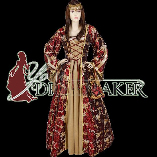 Ornate Taffeta Renaissance Dress