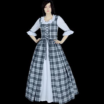 Black and White Scottish Tartan Dress
