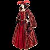 Ravishing Red Renaissance Gown