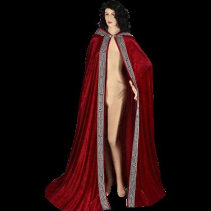Velour Medieval Hooded Cloak