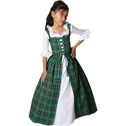 Girl's Scottish Tartan Dress